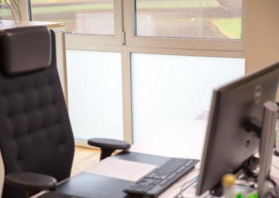 Sichtschutzfolie Glasdekor Planbüro Fischer Rechtmehring