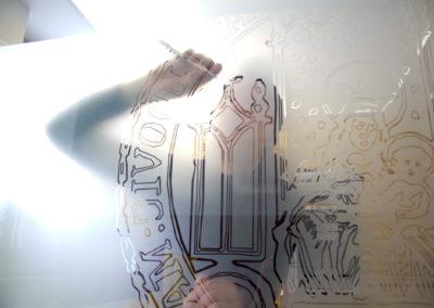 Fensterfolierung Glasdekorfolie mit Muster