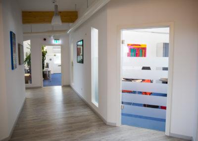 Glasdekorfolie Streifen Görlich Pharma Büro
