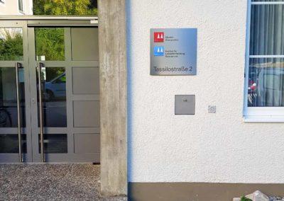 Schild Kloster Gars am Inn Institut für Lehrerfortbildung