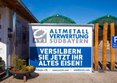 Schild Altmetallverwertung Südbayern AVS