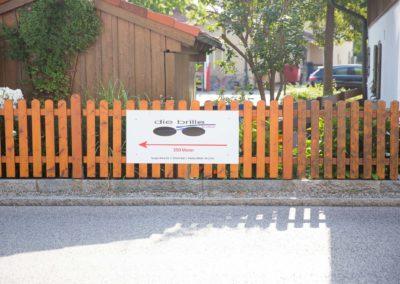 Schild Die Brille Rott Gartenzaun