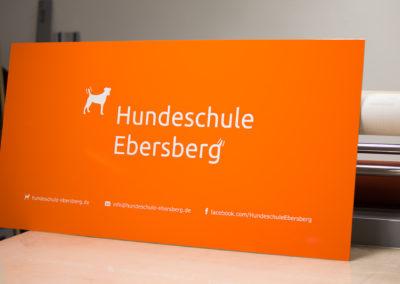 Schild Hundeschule Ebersberg