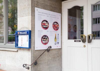 Schild aus Acrylglas Sushi Cent München
