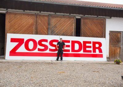 Schild aus Alu Dibond Zosseder