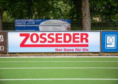 Werbebande Zosseder Fußballplatz Wasserburg