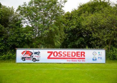 Werbebande Zosseder Fußballplatz Eiselfing