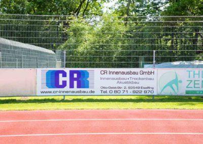 Werbebande CR Innenausbau Badria Wasserburg