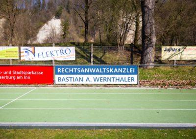 Werbebande Wernthaler Fußballplatz Realschule Wasserburg