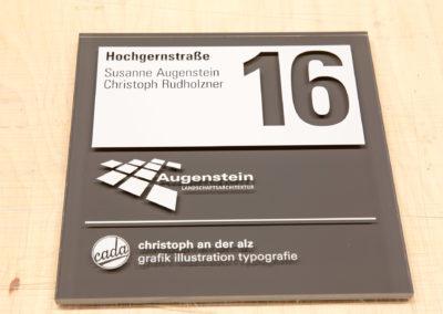 Schild aus Acrylglas design von christoph an der alz